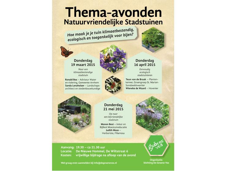 De Groene Vos_poster thema-avonden